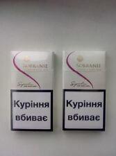 2 x Sobranie London SUPER SLIMS WHITE Cigarettes 2 x 20