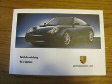 Porsche Betriebsanleitung Operating instruction 911 (996) Carrera 5/01 Deutsch