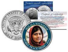 MALALA YOUSAFZAI * NOBEL PEACE PRIZE * 2014 Medal Winner JFK Half Dollar US Coin