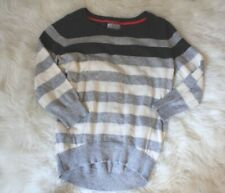 jcp women's Petite M Stripe Cashmere blend boatneck pullover sweater long sleeve