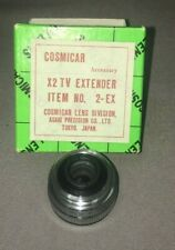 Cosmicar X2 TV Extender 2-EX C-Mount  Made in Japan by Asahi Precision Co