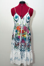 f2efc28a472 NWOT Ocean Breeze Spaghetti Strap White Dress Hearts Rhinestones Size Small