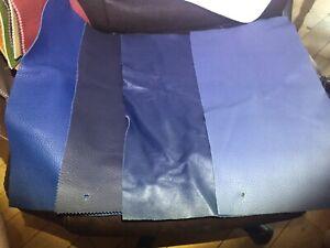 LOT 4 BLUE  Leather 4 Sheets EUROPEAN COW Hide .09MM-1.4MM THICK PIGMENTEE GRAIN