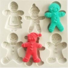 Silicone Christmas Gingerbread Man Fondant Mold Cake Sugarcraft Baking Mould DIY