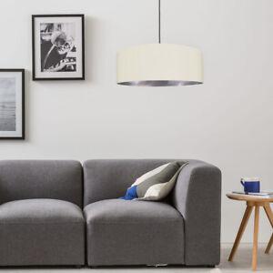 CGC Crea Silver Mila Large Fabric Lightshade Inner Drum Pendant Table Lamp Shade