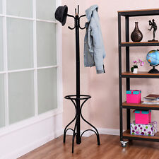 Vintage Metal Coat Hat Rack Tree Stand Clothes Hanger Hooks Umbrella Holder New