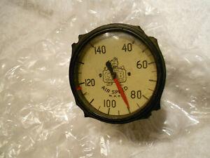 Piper Cub air speed indicator instrument gauge cream face