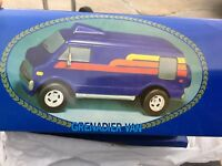 "GRENADIER Vintage 1979 BLUE VAN Decanter Empty Bottle 8.5"" Long NO BOX"