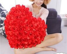 Cushion Red 99Rose Heart 40CM Decor Couch Bed Sofa hold Pillow Wedding Lover new