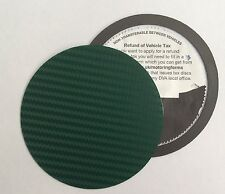 magnetic tax disc holder GREEN carbon fibre Fit lexus lotus maserati ford corsa
