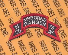 M Co AIRBORNE RANGER 75th Inf Vietnam LRRP LRP 199th Inf Bde scroll patch