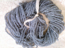 VTG HANK SILVER LINED TURQUOISE BLUE GLASS SEED BEADS  10//0 #013118p