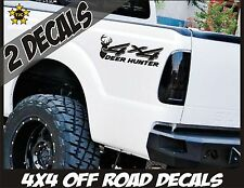 4x4 Truck Bed Decals, Deer Hunter, Gloss Black Set for Ford Super Duty F-250 etc