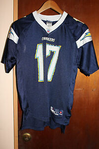 San Diego Chargers Reebok NFL Philip Rivers #17 Youth Jersey Size Large 14-16