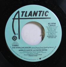 Rock Promo Nm! 45 Marilyn Martin And David Foster - And When She Danced / And Wh
