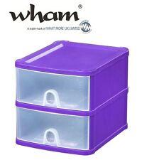 Wham® 16151 Schubladenbox 2er A5 LILA 20x24x20cm Aufbewahrungsbox Sortierbox Box