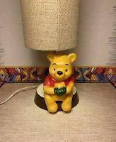 Winnie the Pooh lamp 1977 walt disney dolly toy Christopher Robin figurine hunny