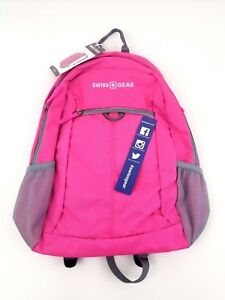 Swiss Gear Day Backpack Pink/Gray Padded Tablet Pocket NWT Student School Work