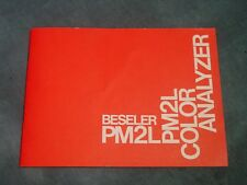 Beseler PM2L Color Analyzer Instruction Book Manual Used