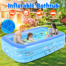 59'' Inflatable Family Swimming Pool Backyard Outdoor Swim Play Center For Kids