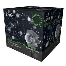 Festive LED Snowfall Light Projector - Outdoor White Christmas Lights P018285