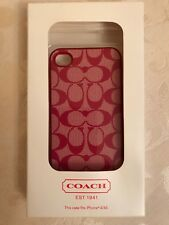 Coach Logo iPhone 4/4S Case Pink & White With Box