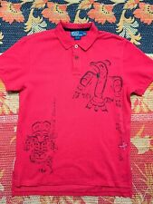 POLO RALPH LAUREN Indian Navajo Tribal Shirt Stadium 92 VTG Patchwork Distressed