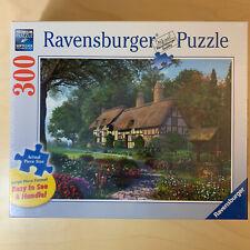 """NEW Ravensburger Secret Sanctuary 300 Piece Jigsaw Puzzle 27""""x20"""" Cottage SEALED"""