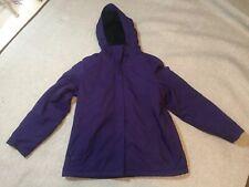 LL Bean Winter Warm Coat Jacket Parka Hooded Fleece Lined Purple Women's Large