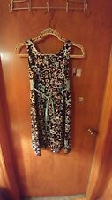 Girls Black,white and teal summer dress size 12/14 Good length worn maybe twice