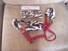 NEW---HORSE HALTER TUBES---Acrylic Fleece Fur--Prevents Halter Rubs--Zebra Print