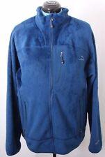 L.L. Bean 270260 Polartec Blue Fleece Full Zip Pocketed Jacket Men's XL