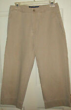 Ralph Lauren Polo Khaki Beige Tan Capri Pants Women Ladies Sring Summer Size 6