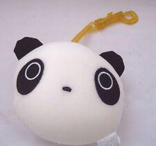 Snow Foam Micro Beads Panda Face Cushion/Pillow Backpack/Purse Clip-Brand New!