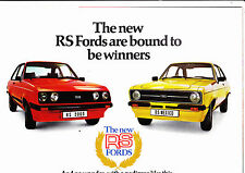 Ford Escort RS2000 & Mexico brochure - Publ FP 338 dated January 1976