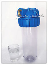 "One Stage 10"" Clear Standard Whole House Water Filter System (1"" Port) w Filter"