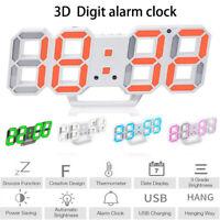 Creative Led Digital Clock Electronic Clock Alarm 3d Stereo Clock 12/24h USB