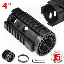 .223 4 INCH Pistol Length Free Float Quad Rail Handguard Long Top Rail US SELLER