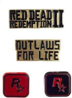 Red Dead Redemption II 4 Pin Set Collectable Brand New Sealed Rockstar 2018
