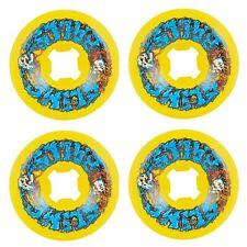 Slime Balls 56mm Skull Spew Speed Balls Yellow Skateboard Wheels 99a