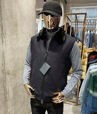STEFANO RICCI Woolen Fur collar Vest Sleveless Jacket M 38US 50  Authentic & NEW