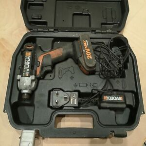 WORX WX290 IMPACT DRIVER with Battery, Charger and Case