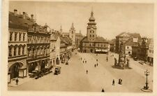 Czech Austria Saaz Žatec - Namesti Ringplatz 1927 sepia postcard
