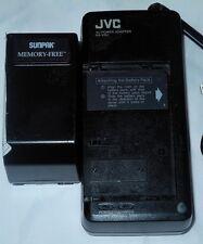 JVC Charger AC Power Adapter AA-V3U & Sunpak Battery Pack RB-70U Memory Free