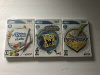 Lot Of 3 U Draw Nintendo Wii Games Spongebob Squigglepants Pictionary