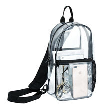 Mens Waterproof Clear Transparent PVC Sling Bag Womens Shoulder Bag Travel Bag