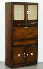 RARE 1950'S ORIGINAL LARDER CUPBOARD STUNNING PATINA FOLD DOWN WORK TOP DRAWERS