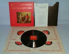 BAROQUE ERA Time-Life CONCERT OF GREAT MUSIC 5-LP Vinyl Record BOX W/Booklet