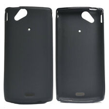 For Sony Xperia Arc S Lt18i X12 Black Matte AntiPrint Gel Skin Case cover