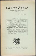 Lou GAI SABER AIX en PROVENCE 1863-1963 Joseph SALVAT Georges GIRARD Millau 1964